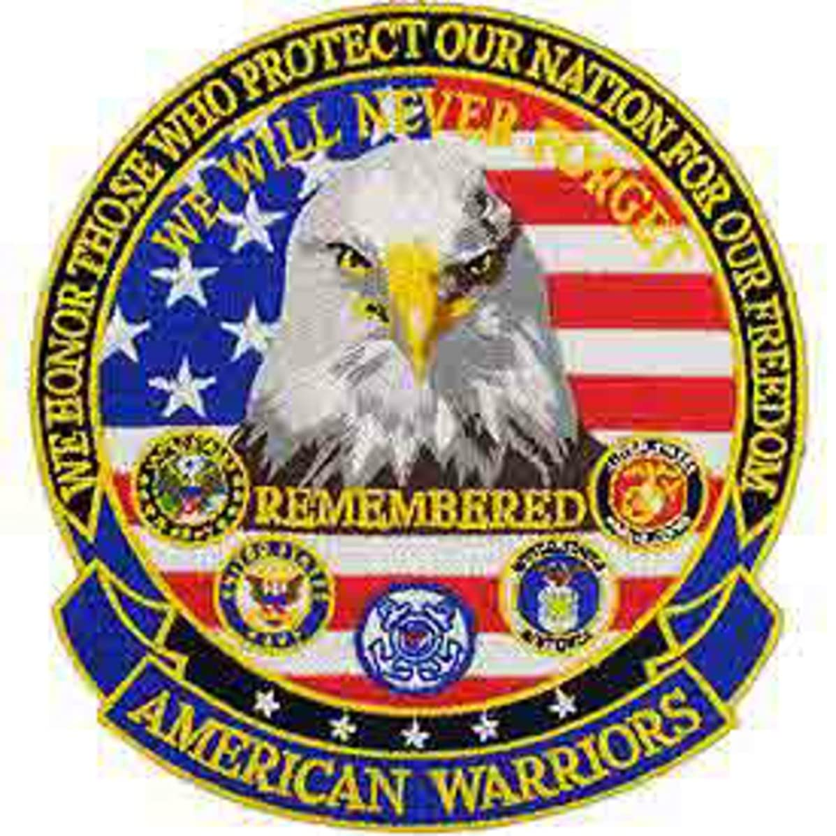 American Warriors 5 inch Back Patch
