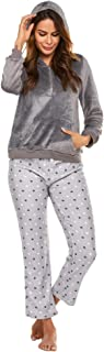 Women's Pajamas for Women Soft Winter Warm Flannel Pajamas with Pockets