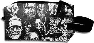 حقائب مستحضرات التجميل النسائية لأيقونات أفلام الرعب حقيبة ماكياج للسفر أدوات الزينة حقيبة التخزين