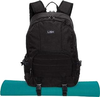 LISH Vinyasa Yoga Mat Backpack - Multipurpose Lightweight Gym Tote Bag with Straps