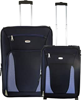 b8e811f26 Timus Morocco Polyester Upright Travel Combo Expandable Check-in Luggage  (Blue, 55 and