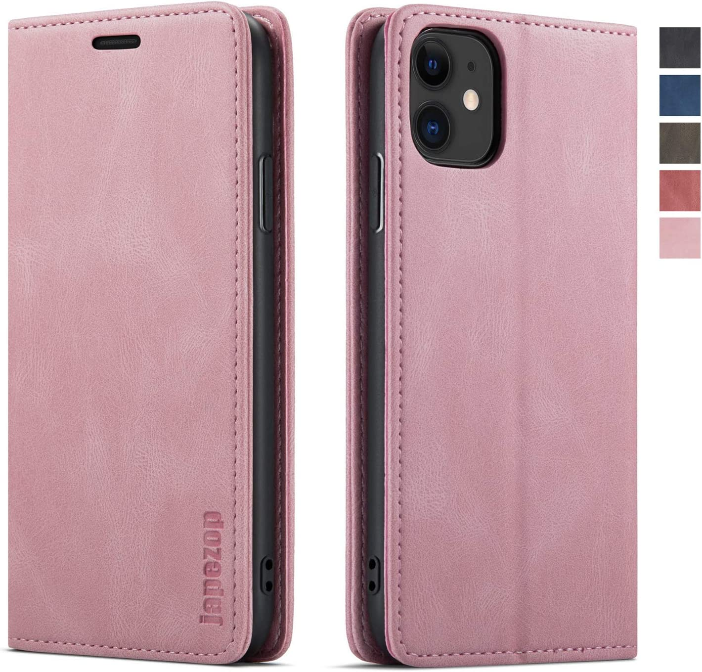 iPhone 11 Case,iPhone 11 Case Wallet for Women with[RFID Blocking] Card Holder Kickstand, Leather Flip Wallet Case for iPhone 11 6.1 inch (Pink)