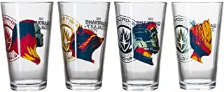 Guardians of the Galaxy Collectible Pint Glass Set, Groot, Star-Lord, Gamora and Rocket Raccoon