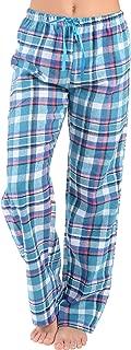 Womens Flannel Pajama Pants-Plaid Lounge Pants, Cotton Blend Pajama Bottoms