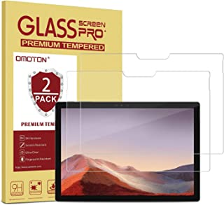 [2 Pack] OMOTON for Surface Pro X Screen Protector- Tempered Glass/Anti Scratch/High Definition Screen Protector for Surface Pro X Screen Protector 13 Inch 2019 Released