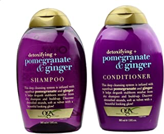 OGX Detoxifying + Pomegranate & Ginger Shampoo 13 Oz and Conditioner 13 Oz Set