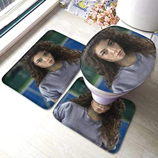 RegGaineyina Lorde Tennis Court EP 3-Piece Bathroom Rug Set,Comfortable Bathroom Decor,Bathroom Rug and Mat Set
