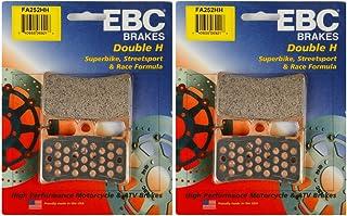 EBC Double-H Sintered Metal Brake Pads FA252HH (2 Packs - Enough 2 Rotors)