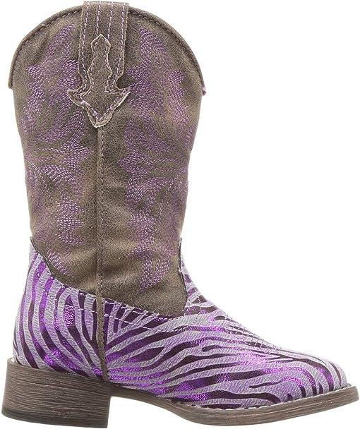 Purple Metallic Zebra Vamp