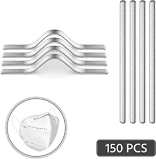 Aluminum Nose Bridge Strips, Self-Adhesive for Face Masks | Nose Strips | Nose Clips | Wire Clips | Metal Clips | Adhesive Strips | Metal Wires | Aluminum Wire | DIY Masks (150 pcs)
