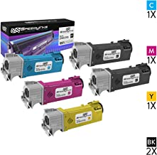 Speedy Inks Compatible Toner Cartridge Replacement for Dell 2150 (2 Black, 1 Cyan, 1 Magenta, 1 Yellow, 5-Pack)