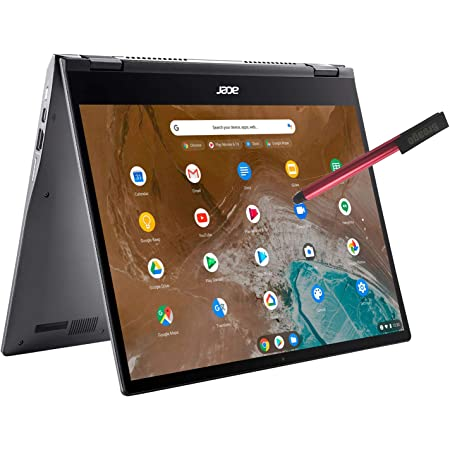 "Acer Chromebook Spin 713 13.5"" 2K Touchscreen 2-IN-1 Laptop Computer, Intel Quard-Core i5-10210U (Beats i7-7500U), 8GB DDR4 RAM, 128GB PCIe SSD, WiFi 6, Backlit KB, Chrome OS, BROAGE 16GB Flash Stylus"