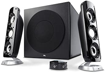 "Cyber Acoustics CA-3908 2.1 Stereo Speaker System with 6.5"" Subwoofer and Control Pod - Computer and Home Audio Set w..."