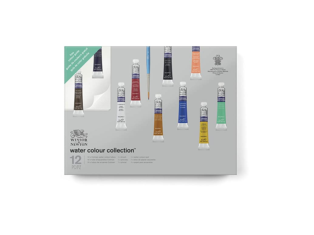 Winsor & Newton Cotman Water Colour Paint Gift Collection, Set of 10, 8ml Tubes