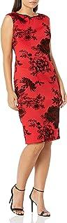S.L. Fashions womens Floral Print Scuba Dress Special Occasion Dress