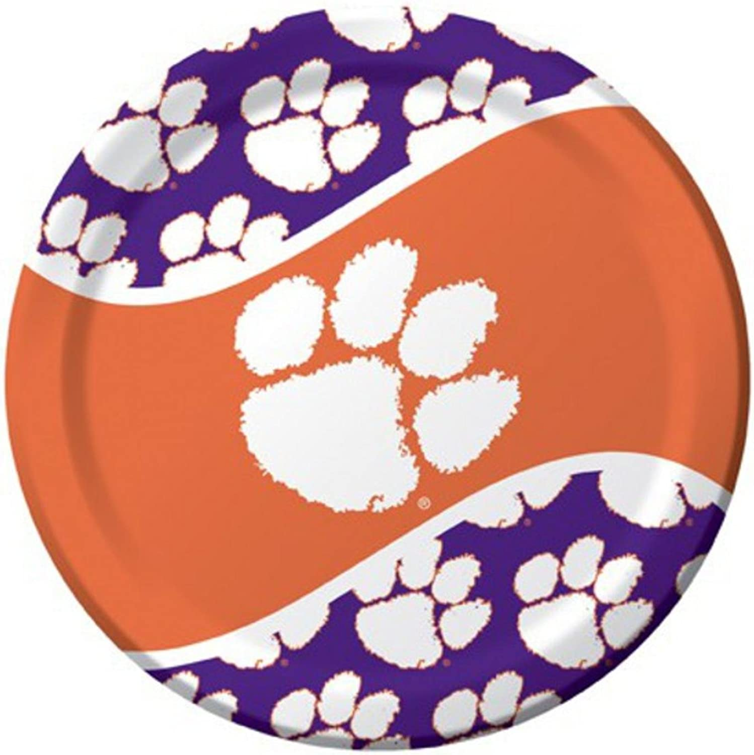 Pack of 96 NCAA Clemson Tigers Round Tailgate Party Paper Dinner Plates 8.75