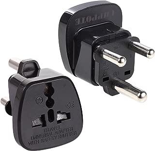 UHPPOTE Type M Travel Trip UK US EU AU RU Socket to Big South Africa ZA Plug Jack Power Adapter (Pack of 2)