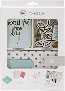 American Crafts Project Life Kit, Mini, Heidi Swapp, Gold Foil (98177)