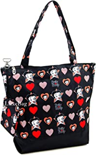 Betty Boop Polyester Shopping Bag with Coin Purse, Tote Style
