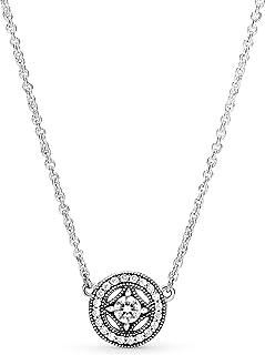 Pandora Women's Silver Pendant Necklace - 590523CZ-45