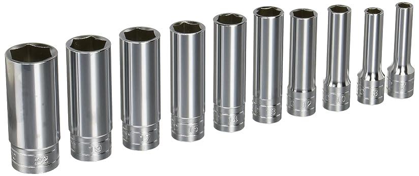 肥料ピアースピービッシュKTC(ケーテーシー) 9.5mm (3/8インチ) ディープソケット セット 10個組 TB3L10