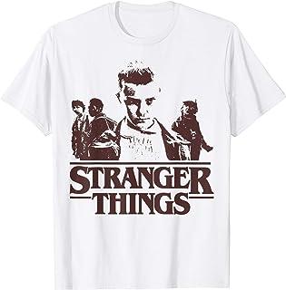 Netflix Stranger Things Group Shot Fade Logo T-Shirt