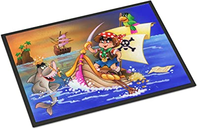"Caroline's Treasures Boy Playing Piriate with Dolphin Indoor or Outdoor Mat 24x36 APH6105JMAT, 24"" x 36"", Multicolor"
