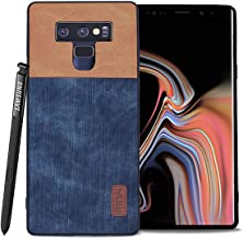 for Samsung Galaxy Note 9 Cases,Mofi to Hybrid Anti-Scratch Shock-Resistant Cover Soft Silicone Jeans Leather Bumper 360 Protector Shockproof Shell for Samsung Galaxy Note 9 Cases(Blue+Brown)