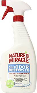 Nature's Miracle 3-in-1 Odor Destroyer, Fresh Linen Scent, 24-Ounce