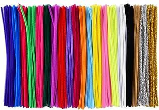 Chenilledraht 30 cm 100 St/ück Mehrfarbig 6 mm x 30 cm farbig sortiert Pfeifenreiniger Glorex 6 3800 661 Biegepl/üsch