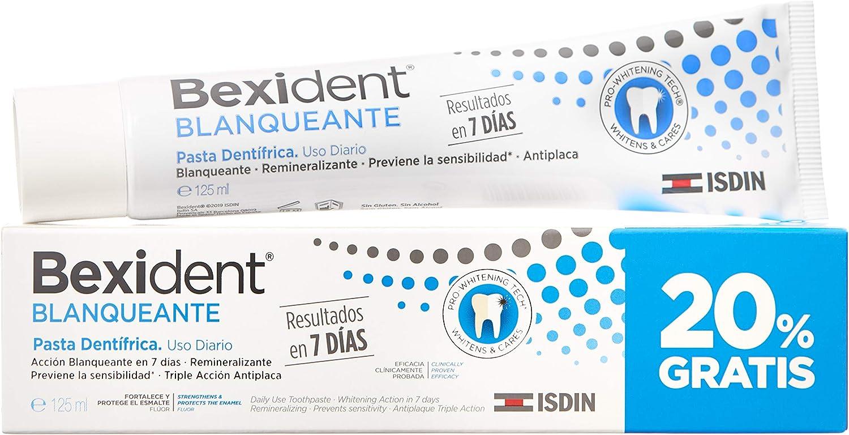 ISDIN Bexident Blanqueante - Pasta dentífrica (uso diario, resultados en 7 días) - 125 ml
