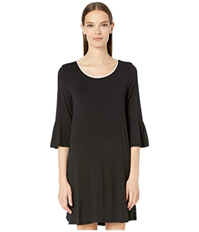 Kate Spade New York Evergreen Sleepshirt (Black) Women