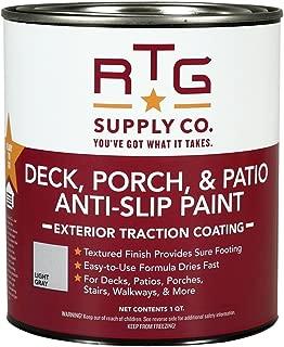 RTG Deck, Porch, Patio Anti-Slip Paint (Quart, Light Gray)