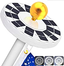 Solar Flag Pole Light- LBell 30 LED Flag Pole Lights Solar Powered Night Light- Flagpole Downlight Lighting for 15 to 25 F...