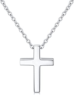 ALPHM S925 Sterling Silver Small Cross Pendant Necklace/Bracelet/Earrings