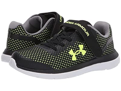 Under Armour Kids Impulse (Little Kid) (Black/White/X-Ray) Boys Shoes