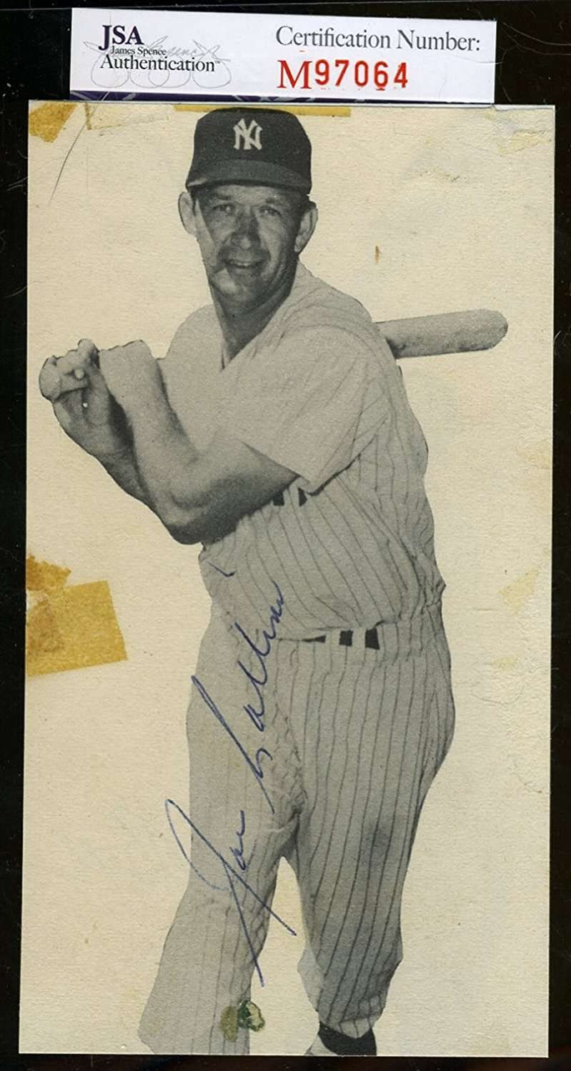 JOE COLLINS YANKEES 40`S SIGNED CERTIFIED JSA NEW before selling ☆ PHOTO 4X6 Regular store AUTHENTI