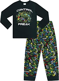 The Pyjama Factory Control Freak Gaming - Pijama largo de algodón, color negro