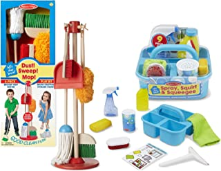 Melissa & Doug Let's Play House! Dust, Sweep, and Mop Set with Spray, Squirt, and Squeegee Set