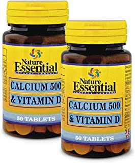 Calcio 500 + vitamina D 50 comprimidos (Pack 2 unid.)