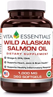 Vita Essentials Softgels, Wild Alskan Salmon, 1000 Mg, 360 Count