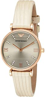 Emporio Armani Classic Women's Gray Dial Leather Band Watch - AR1681