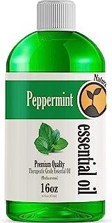 16oz - Bulk Size Peppermint Essential Oil (16 Ounce Total) - Therapeutic Grade Essential Oil - 16 Fl Oz Bottle
