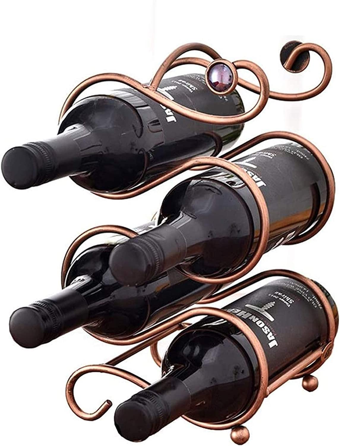 DSWHM Free Standing Countertop Wine Retro Rack W Now free shipping Style Challenge the lowest price of Japan ☆ European