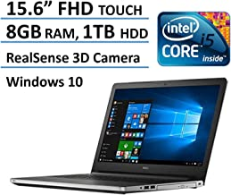 2017 Dell Inspiron 15.6? Full HD Touchscreen Signature Flagship laptop, Intel Core i5-6200U, 2.30 GHz, 8GB DDR3L, 1TB HDD, 802.11AC/a/b/g/n, Bluetooth, HDMI, DVD/RW, Win 10 - Silver