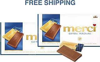 Merci Chocolate Tablets- FINE CREAM 2 x 100 g, Merci/Germany