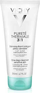 Vichy Pureté Thermale One Step Cleanser for Sensitive Skin, 3.3 Fl Oz