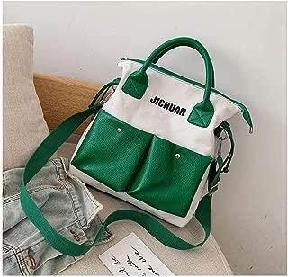 YXWL Big Bag Fairy Canvas Bag Female Shoulder Slung Japanese Student Ins2019 New Large Capacity Handbag (Color : Green)