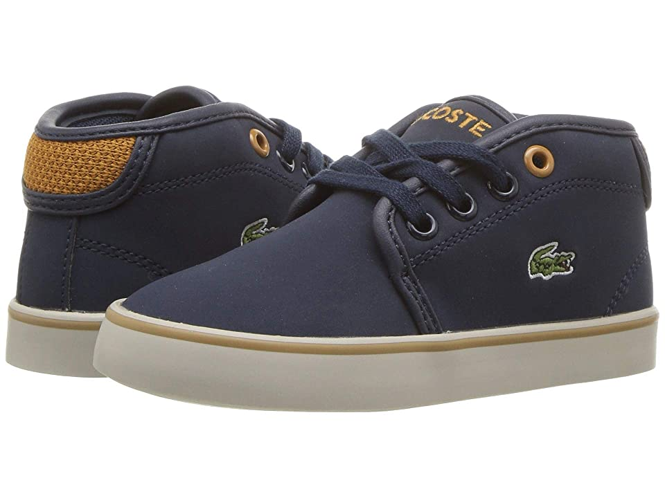 Lacoste Kids Ampthill 318 (Toddler/Little Kid) (Navy/Dark Tan) Kid