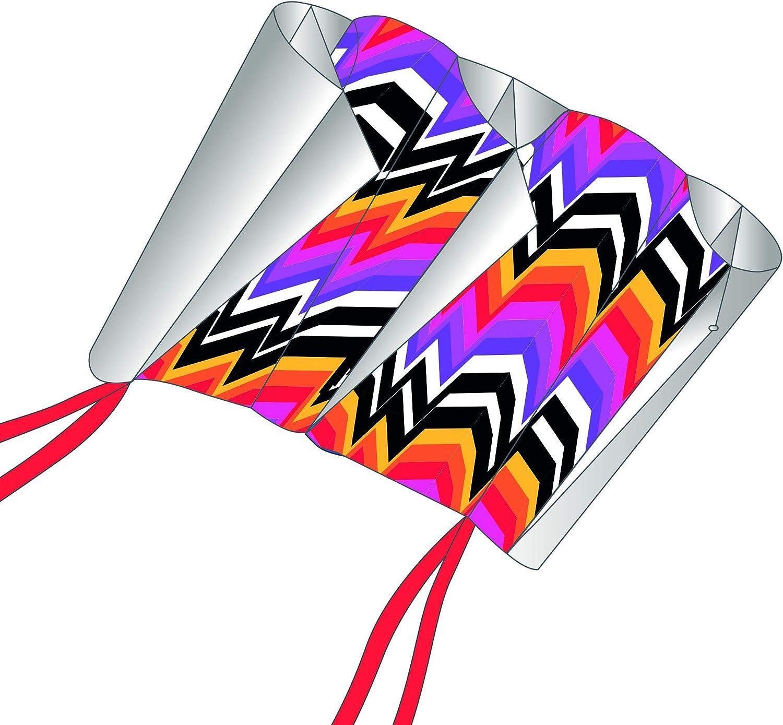 discount X-Kites SkyFoil Nylon Frameless Inches Omaha Mall Zigzag Kite 38